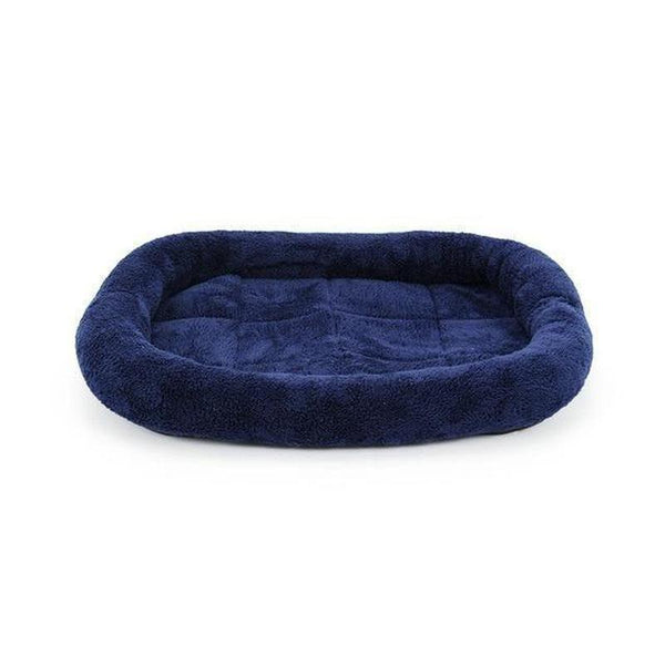 Warm and Fluffy Dog Bed for Small to Large Dog Breeds-Dog Mats-Blue-S-772961-blue-60x50-Paws and Whiskers
