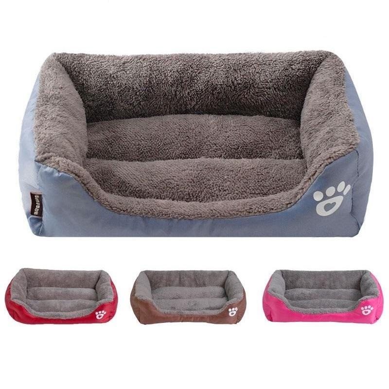 Warm Dog Bed with Waterproof Bottom-Dog Beds-Black-S = 45 x 40 x 12 cm-6445148-black-s-Paws and Whiskers