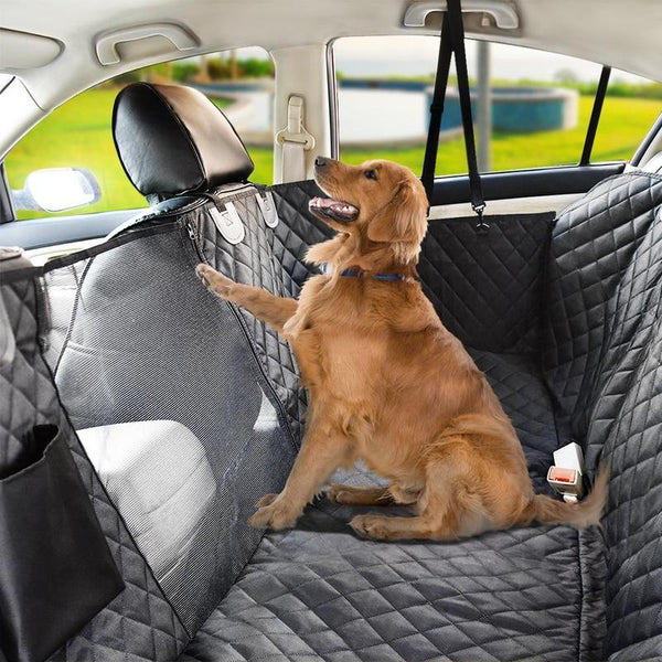 Waterproof Dog Car Seat Covers with Visual Mesh Window-Dog Furniture & Car Protection-Black-152 x 143 cm-23685334-black-152x143cm-china-Paws and Whiskers