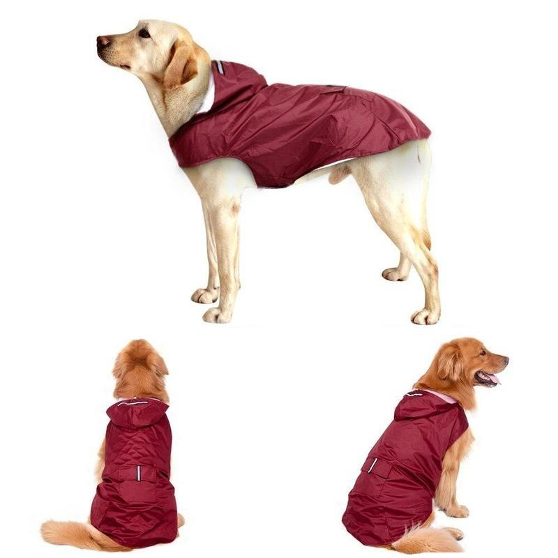 Waterproof Dog Rain Jacket for Large-Sized Dogs (3XL-5XL)-Dog Sweaters & Coats-Black-3XL-14830542-black-3xl-Paws and Whiskers