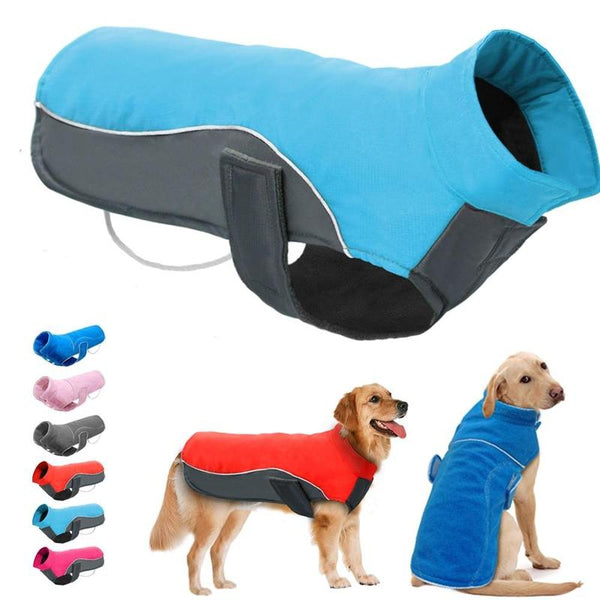Waterproof Dog Sweater for All Sizes of Dog-Dog Sweaters & Coats-Blue-S-31528221-blue-s-Paws and Whiskers