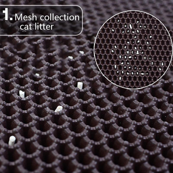 Waterproof Rubber Cat Litter Mat for Cat Litter Box-Cat Mats & Liners-Black-30x30cm-25391420-black-30x30cm-Paws and Whiskers