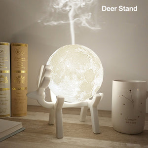 3D Moon Night Light Essential Oil Diffuser