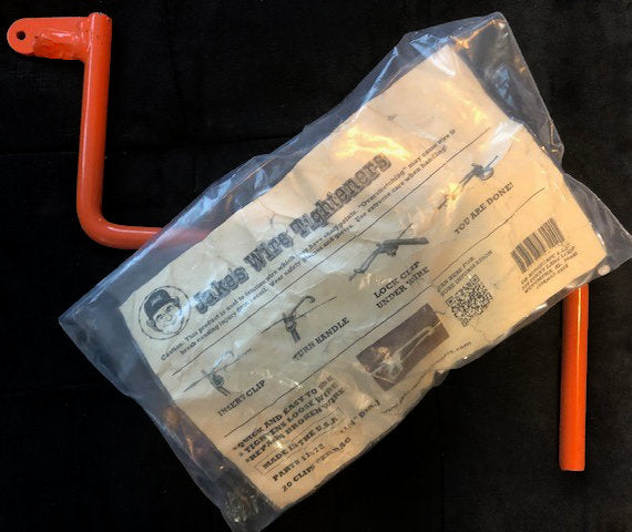 "Bag of 20 1/4"" Wire Tightener Clips & Handle - Front View"