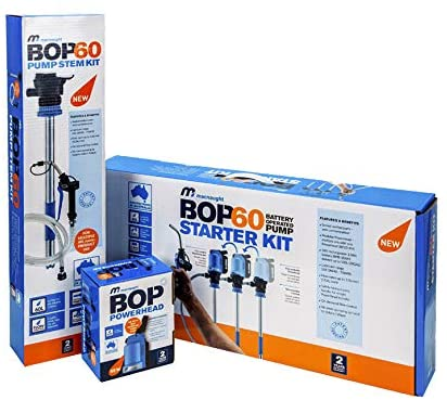 Macnaught BOP60 Battery-Operated Oil Pump Starter Kit for 16-Gallon Containers