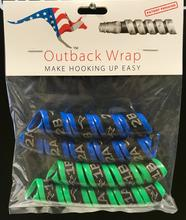 Outback Wrap - 2 Pairs (Blue & Green) for Small Hydraulic Hoses