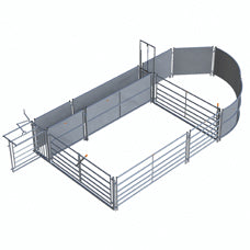Two Part Gates in Frame for Sheep