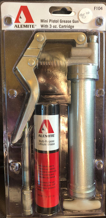 Alemite Mini Pistol Grease Gun with 3 oz. Cartridge - F104