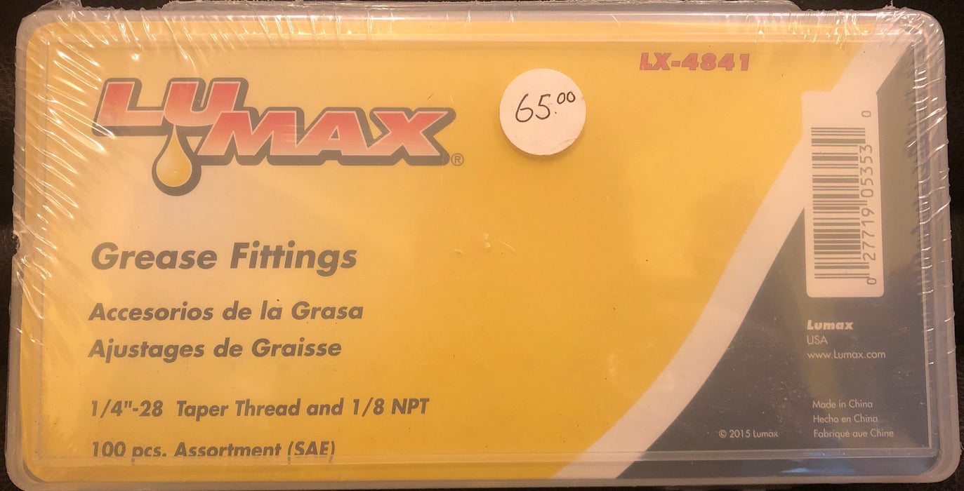 Lumax 100 pc Standard Grease Fittings-LX-4841