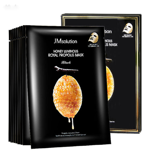 JM SOLUTION HONEY LUMINOUS ROYAL PROPOLIS MASK 10EA/SET - HelloPeony