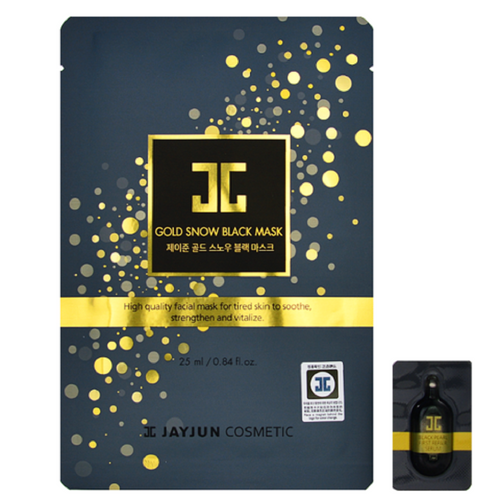 JAYJUN GOLD SNOW BLACK MASK 1EA - HelloPeony