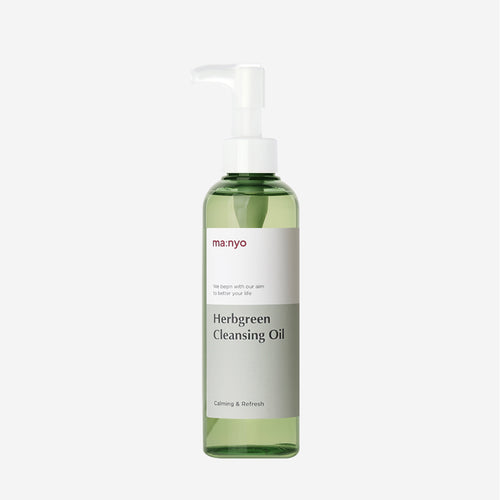 MANYO FACTORY HERB GREEN CLEANSING OIL - HelloPeony