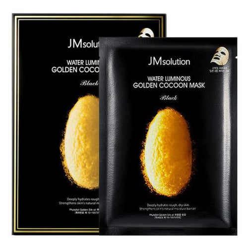 JM SOLUTION WATER LUMINOUS GOLDEN COCOON MASK BLACK 10EA/SET - HelloPeony
