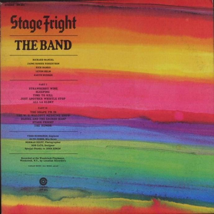 White Hot Stamper - The Band - Stage Fright