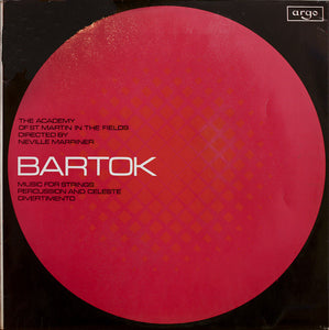 Bartok / Music For Strings, Percussion And Celeste / Divertimento / Marriner - Nearly White Hot Stamper