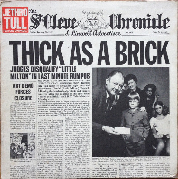 Jethro Tull - Thick As A Brick - White Hot Stamper