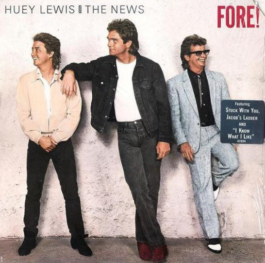 Lewis, Huey and The News - Fore! - White Hot Stamper