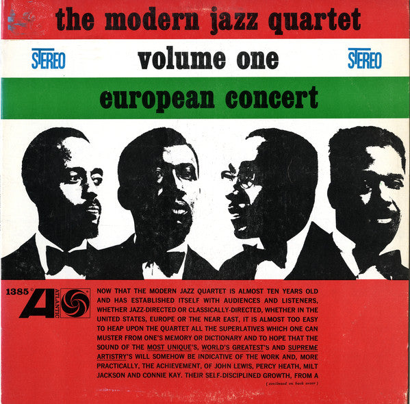 Modern Jazz Quartet, The - European Concert, Volume 1 - Nearly White Hot Stamper