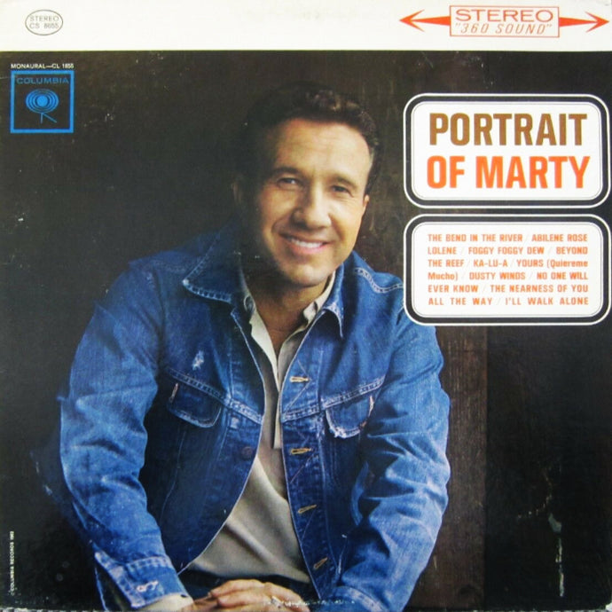 Robbins, Marty - Portrait of Marty - White Hot Stamper