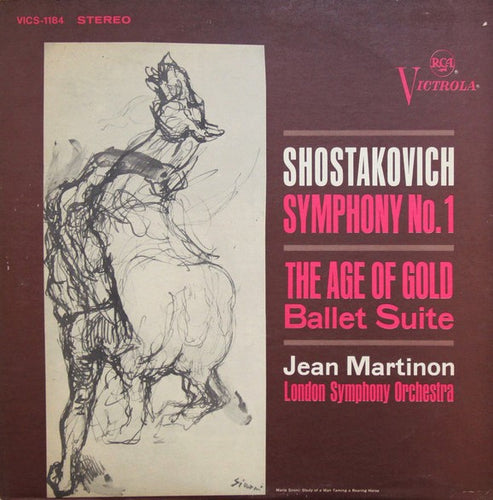 Shostakovich / Symphony No. 1 / The Age Of Gold - Ballet Suite / Martinon - White Hot Stamper