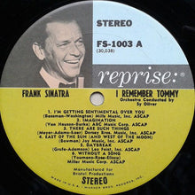 Load image into Gallery viewer, Sinatra, Frank - I Remember Tommy - White Hot Stamper