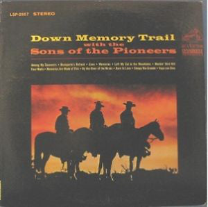 Sons of The Pioneers, The - Down Memory Trail - White Hot Stamper
