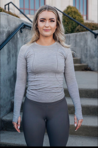 Captivating Long Sleeve - Heathered Grey