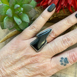 Load image into Gallery viewer, Anillo Rayo Obsidiana
