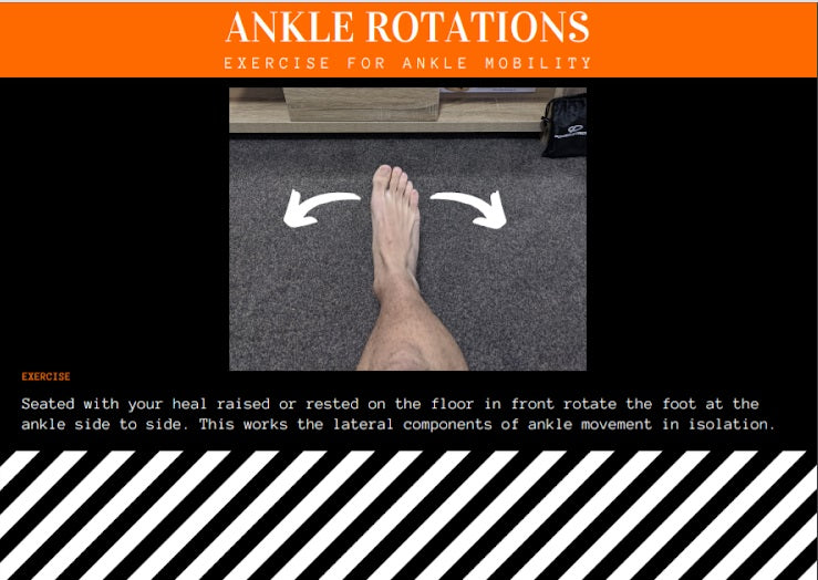 How to do ankle rotations for sprain rehabilitation