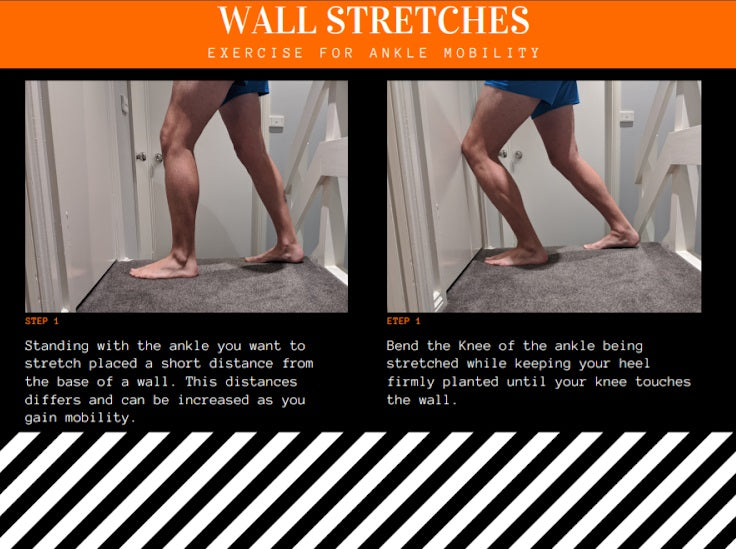 How to do wall stretches for ankle sprain recovery