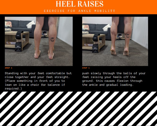 How to do heel raises for ankle injuries