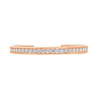 large scale 18k rose gold and diamond cuff bracelet