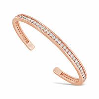 18k rose gold diamond stack bracelet