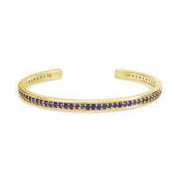 pave amethyst cuff bangle in 18k gold