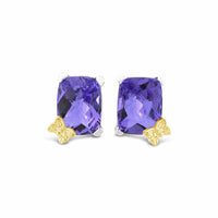 amethyst earrings silver