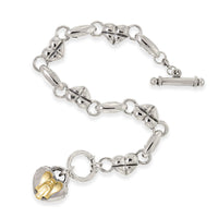 angel bracelet with heart charm