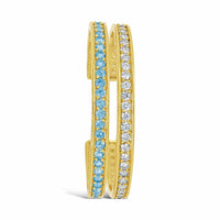 fine jewelry aquamarine and diamond split back cuff bracelet gold