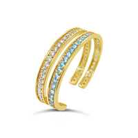 pair of 18k gold aquamarine and diamond stack cuffs