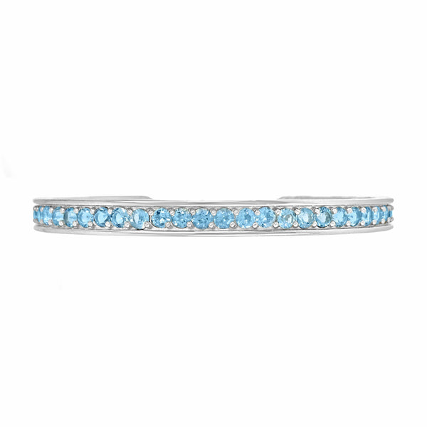 aquamarine bracelet white gold