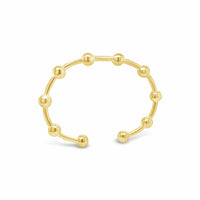 Thin gold bangle with balls