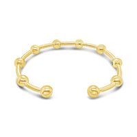 gold ball bangle bracelet