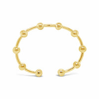 gold golf ball cuff bangle bracelet