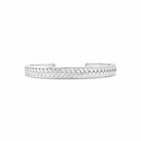 sterling silver woven split back cuff bracelet