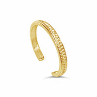 18k gold basket weave cuff bangle bracelet