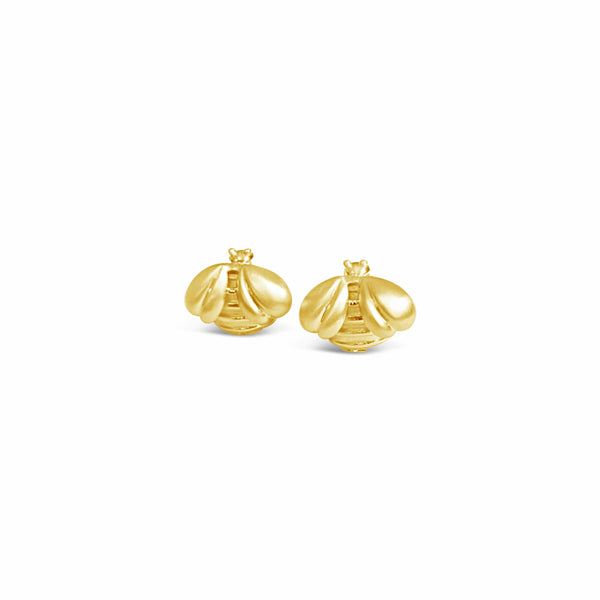 18k gold bee earring