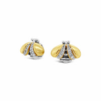 bee earrings with diamonds