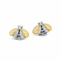 diamond bee earrings Saint Jewelry