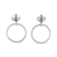 bee hoop earrings