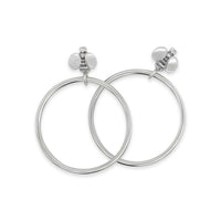 bee hoop earrings silver