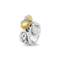 bee ring with diamonds